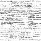 Wektorowy bezszwowy wzór z istnej ręki pisać tekstem na białym papierze Fotografia Royalty Free