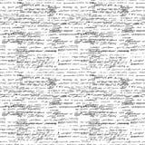Wektorowy bezszwowy wzór z istnej ręki pisać tekstem na białym papierze Obraz Stock
