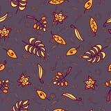 Wektorowy bezszwowy wzór z jesień liści tłem Zdjęcie Royalty Free