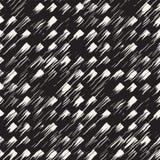 Wektorowy bezszwowy wzór z lampasami i uderzeniami Czarny i biały tło z atramentów kreskowymi elementami Ręka malujący grunge Zdjęcia Stock