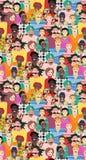 Wektorowy bezszwowy wzór z mężczyzna i kobietami różni wieki, rasy i narodowości, ilustracji
