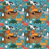 Wektorowy bezszwowy wzór z Noah ` s arki pojęciem Zdjęcie Stock