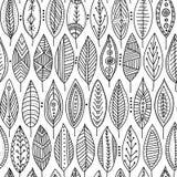 Wektorowy bezszwowy wzór z ornamentacyjnymi liśćmi Zdjęcia Stock