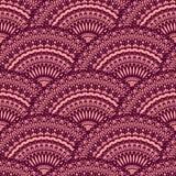 Wektorowy bezszwowy wzór z ornamentacyjnymi okręgami Fotografia Stock