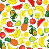 Wektorowy bezszwowy wzór z owoc Zdjęcie Royalty Free
