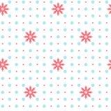 Wektorowy bezszwowy wzór z płatków śniegu elementami Zdjęcia Royalty Free