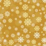 Wektorowy bezszwowy wzór z płatków śniegu elementami Obraz Royalty Free