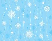 Wektorowy bezszwowy wzór z płatkami śniegu Zdjęcia Royalty Free