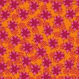 Wektorowy bezszwowy wzór z purpurowymi kwiatami Obraz Royalty Free