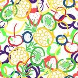 Wektorowy bezszwowy wzór z ręki rysować owoc Zdjęcie Royalty Free