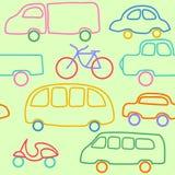 Wektorowy bezszwowy wzór z samochodami. Obraz Stock