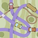 Wektorowy bezszwowy wzór z samochodami. Obrazy Royalty Free