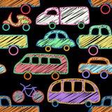 Wektorowy bezszwowy wzór z samochodami Obrazy Stock