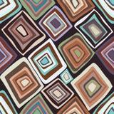 Wektorowy bezszwowy wzór z stubarwnymi diamentami Obraz Stock