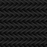 Wektorowy bezszwowy wzór z warkoczami Tekstura przędza z kropkowaną linią plesie zakończenie ornamentacyjny abstrakcyjne tło Niek ilustracji