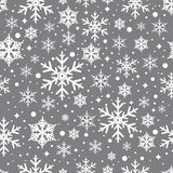 Wektorowy bezszwowy wzór z płatkami śniegu Zdjęcie Stock