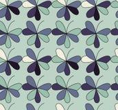 Wektorowy bezszwowy wzór z sercami umieszczającymi w koniczynowych kształtach Płaski shamrock wyobrażający sobie barwi tło Prosty Zdjęcie Royalty Free