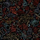 Wektorowy bezszwowy zarysowany walentynki ` s wzór ilustracja wektor
