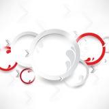 Wektorowy biały i czerwień dzwonimy tło Zdjęcia Stock
