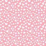 Wektorowy biały kierowy bezszwowy wzór Odizolowywający na różowym tle Obrazy Stock