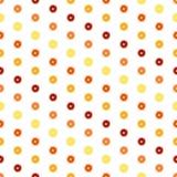 Wektorowy biały tło z kolorowymi pomarańczowymi plasterkami bezszwowa konsystencja ilustracja wektor