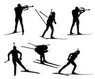 Wektorowy biathlon set royalty ilustracja