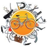 Wektorowy bicykl Oszczędza pojęcie z rowerem royalty ilustracja