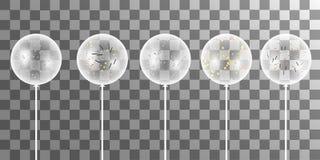 Wektorowy biel szybko się zwiększać z confetti na przejrzystym tle ilustracja wektor