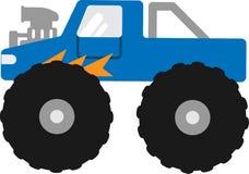 Wektorowy Bigfoot samochód na białym tle ilustracji