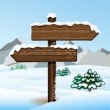 Wektorowy bilboard w zima lesie Zdjęcie Stock