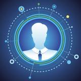 Wektorowy biznesmena avatar w okrąg ramie Obrazy Stock