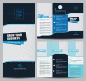 Wektorowy biznesowy broszurka szablonu projekt royalty ilustracja