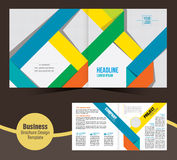Wektorowy biznesowy broszurka szablonu projekt Obrazy Stock