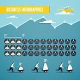 Wektorowy biznesowy infographics ustawiający z ilustracją biel i royalty ilustracja
