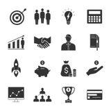 Wektorowy Biznesowy minimalistic ikona set również zwrócić corel ilustracji wektora Zdjęcia Royalty Free
