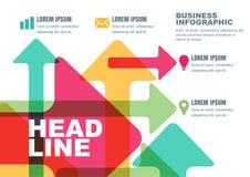 Wektorowy biznesowy szablon dla broszurki, ulotka, plakat, infographi Fotografia Stock