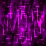Wektorowy bogaty purpura wzór czerepy i trójboki z gwiazdami ilustracji