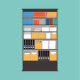 Wektorowy Bookcase .book, pudełko, papier Fotografia Royalty Free
