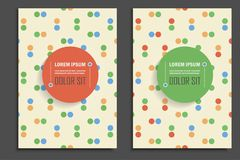 Wektorowy broszurka rocznika kropek styl Obrazy Stock