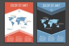 Wektorowy broszurka szablon dla prezentacj, pokryw, książek i biznesowych dokumentów, Piękny geometryczny projekt royalty ilustracja