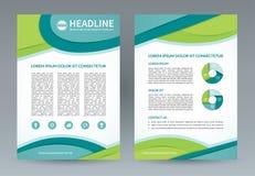 Wektorowy broszurki ulotki projekta szablon A4 rozmiar ilustracja wektor