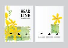 Wektorowy broszurki ulotki projekta układu szablon, strona, wielkościowa A4, strony tytułowej i plecy, Fotografia Stock