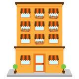 Wektorowy budynek mieszkaniowy na ulicie royalty ilustracja