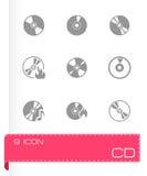 Wektorowy cd ikony set Zdjęcie Stock