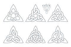Wektorowy celta trinity kępki część 2 ornament etniczne Geometryczny d Zdjęcia Stock