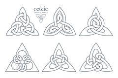 Wektorowy celta trinity kępki część 1 ornament etniczne Geometryczny de Fotografia Royalty Free