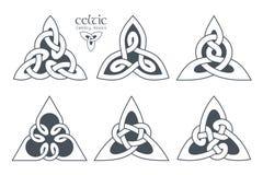 Wektorowy celta trinity kępki część 1 ornament etniczne Geometryczny de Obraz Royalty Free
