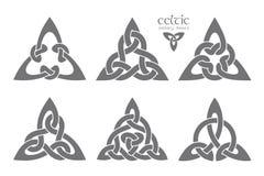 Wektorowy celta trinity kępki część 1 ornament etniczne Geometryczny de Zdjęcie Stock
