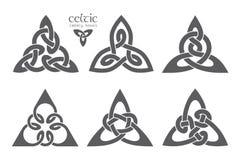 Wektorowy celta trinity kępki część 2 ornament etniczne Geometryczny de Zdjęcia Stock