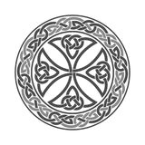 Wektorowy Celtycki krzyż ornament etniczne geometryczny wzór ilustracji